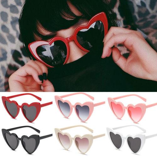 Retro Lolita Love Heart Shaped Sunglasses Fashion Women Stylish  Shades UV400