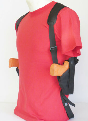 """Vertical Carry Two Gun Double Holster Springfield EMP or Micro 45-3/"""" Barrel"""