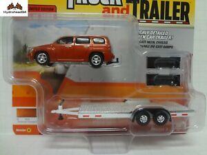 Johnny Lightning 2006 Chevy Hhr Orange With Open Car Trailer