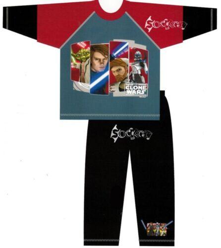 Boys Star Wars Clone Wars Long Pyjamas Ages 3-10 Years