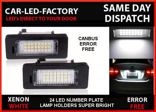 BMW E93 LED LIGHTING CANBUS NO ERROR 24 LED NUMBER PLATE LIGHT HOLDER UPGRADE