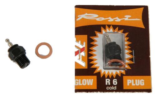 ROSSI # 500905010 R6 kalt Glühkerze RC Nitro Motor Zubehör