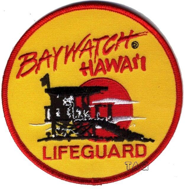 a3397aebc1b7 Baywatch Lifeguard Logo Crest Badge Iron or Sew On Fancy Dress Patch   200