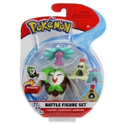 Pokemon Battle 3 Figure Pack Sandyghast /& Mareanie Brand New Dartrix