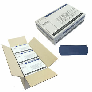 Details about 12 Boxes of Steroplast Sterochef Blue Catering Kitchen  Sterile Large Plasters