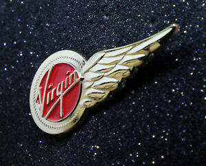 Details about VIRGIN ATLANTIC AIRWAYS HALF-Wing Pin Gold 50mm / 1 97in