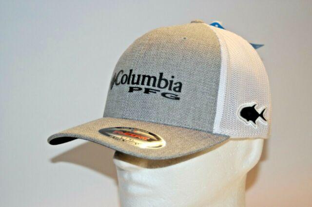 Columbia PFG Permit Flexfit Fitted Ball Cap Hat in Heather Grey L//XL 7-7 3//4