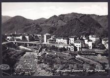 GENOVA ROSSIGLIONE 07 SUPERIORE - BORGO BOGLIONA Cartolina FOTOGRAF. viagg. 1960
