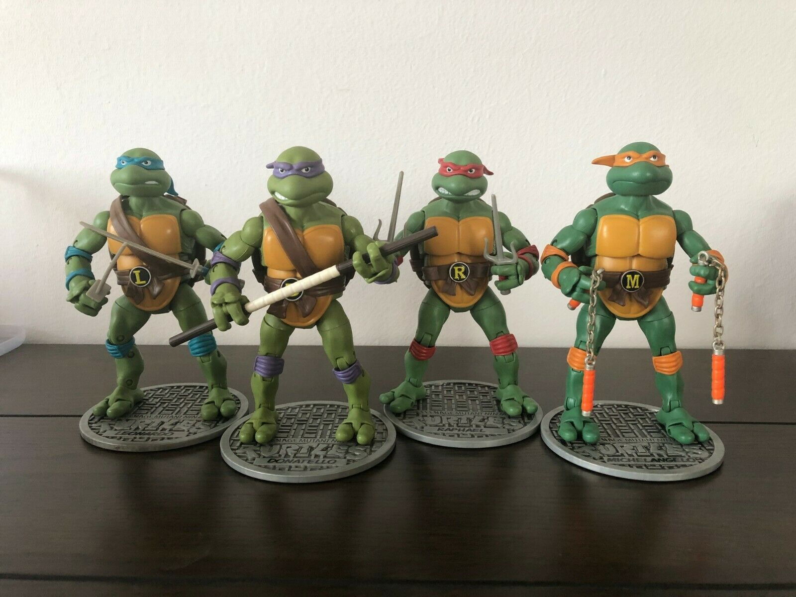 FREE POST Complete set of 4 Teenage Mutant Ninja Turtles Classic Collection TMNT