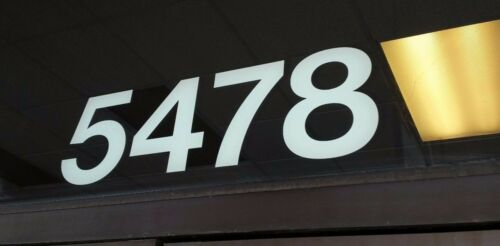 Address Numbers Decal White  5in.$5.99 Custom made for you FREE SHIPPING