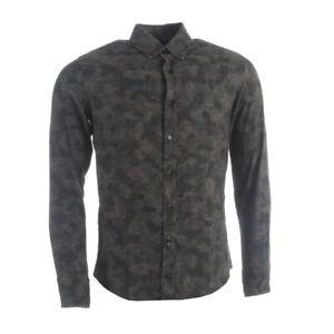Hugo-Boss-Hemd-dunkelgruen-Camouflage-Slim-Fit-Baumwolle-RRP-119