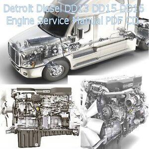 detroit diesel dd13 dd15 dd16 truck engine factory service manual rh ebay com Detroit DD15 Engine Sensor Locations Detroit DD15 Engine Sensor Locations