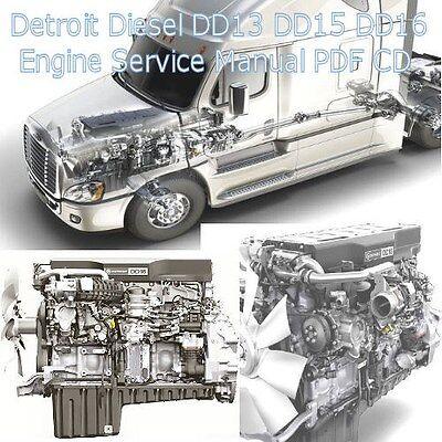 Detroit Diesel DD13 DD15 DD16 Truck Engine Factory Service Manual Workshop  CD !! | eBay