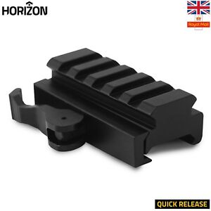 5-Slot-Picatinny-Weaver-Rail-Riser-Mount-Handguard-Rail-Quick-Release-20mm-UK