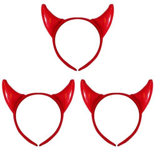 DEVIL HORN HEADBAND ACCESSORY HALLOWEEN LADIES FANCY DRESS BULK WHOLESALE LOT