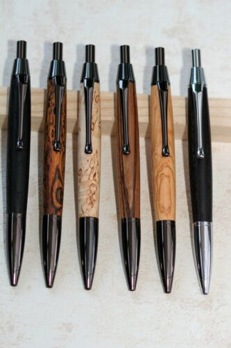 Schreibgerät Kugelschreiber Click Pen Holz handgedrechselt Schnäppchenpreis