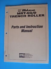 Mikasa Multiquip Mrt 6gd Trench Roller Parts And Instruction Manual 21696