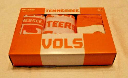 "Tennessee Vols Women/'s 100/% Cotton 3-Pk Bikinis//Panties//Underwear L//7 39/""-40/"""