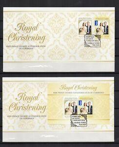 AUSTRALIE-Prince-WILLIAM-2014-serie-2-Tp-1-bloc-sur-2-enveloppes-FDC