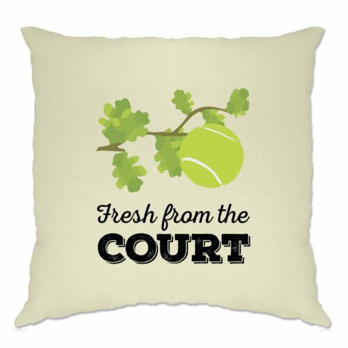 Tennis Kissenhülle Frisch vom Hof ??Slogan