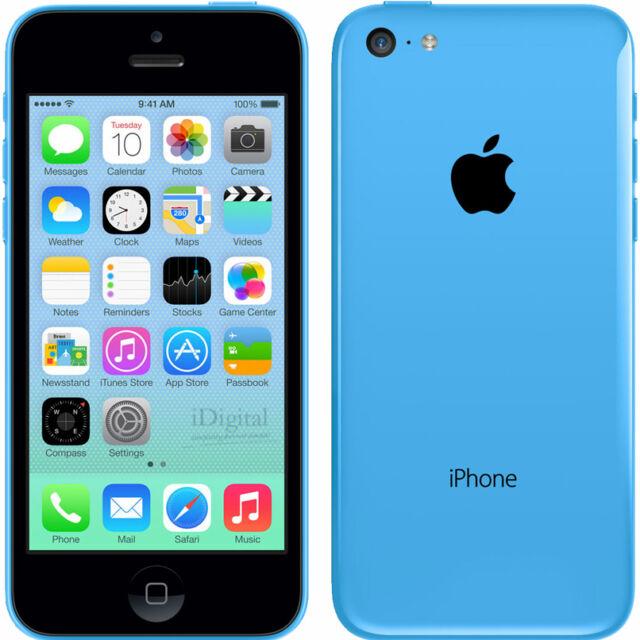 Smartphone Apple iPhone 5c - 8 Go - Bleu - Téléphone Portable Débloqué 4G IOS