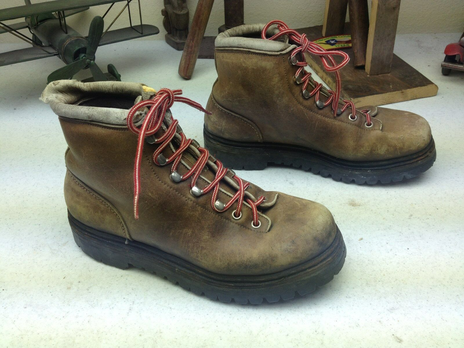 VINTAGE FABIANO braun LEATHER LACE UP UP UP MOUNTAINEERING HIKING Stiefel 6.5 M 0492eb