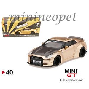 MINI-GT-40-LIBERTY-WALK-LB-WORKS-NISMO-NISSAN-SKYLINE-GT-R-R35-1-64-CARBON-HOOD