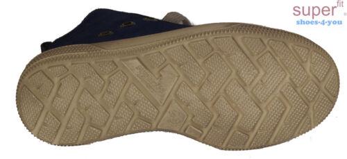 Superfit Chaussures Bootie stoffutter fermeture éclair bleu en cuir véritable neuf