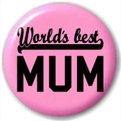 Small 25mm Lapel Pin Button Badge Novelty World'S Best Mum