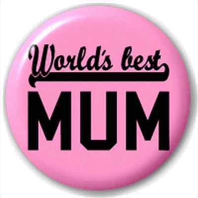 Small 25mm Lapel Pin Button Badge Novelty World'S Best Mum