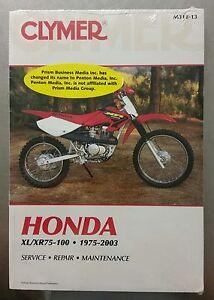 clymer service repair manual for honda xl xr75 100 m312 13 ebay rh ebay com 1985 Honda XL 100 1975 Honda XL 100