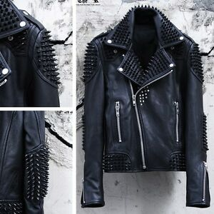 Black metal leather jacket