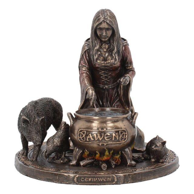 Ceridwen 17cm Goddess Crone Pagan Wiccan Figurine Nemesis Decor Art Statue Gift