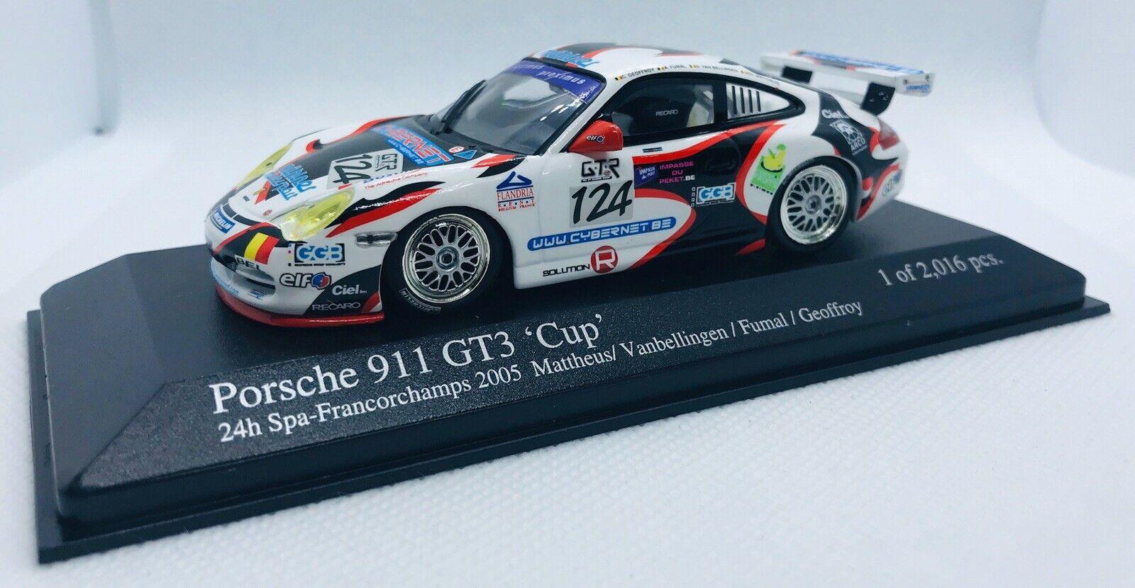 1 43 Porsche 911 Gt3 Rsr 2005 Spa 24hr 66 Minichamps 2112 Ltd Ed For Sale Online Ebay