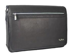 ᄄᄂ bandouliᄄᄄre PerottiNoir 9051c Tp de en ordinateur portable italien cuir Sac pour Tony 3ARLj54q