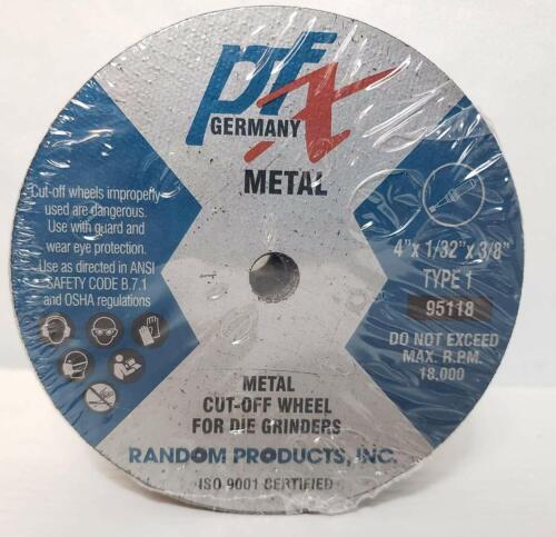 """PFX 4/"""" x 1//32/"""" x 3//8/"""" Type 1 Metal Cut Off Wheel for Die Grinders 25 Pack"""