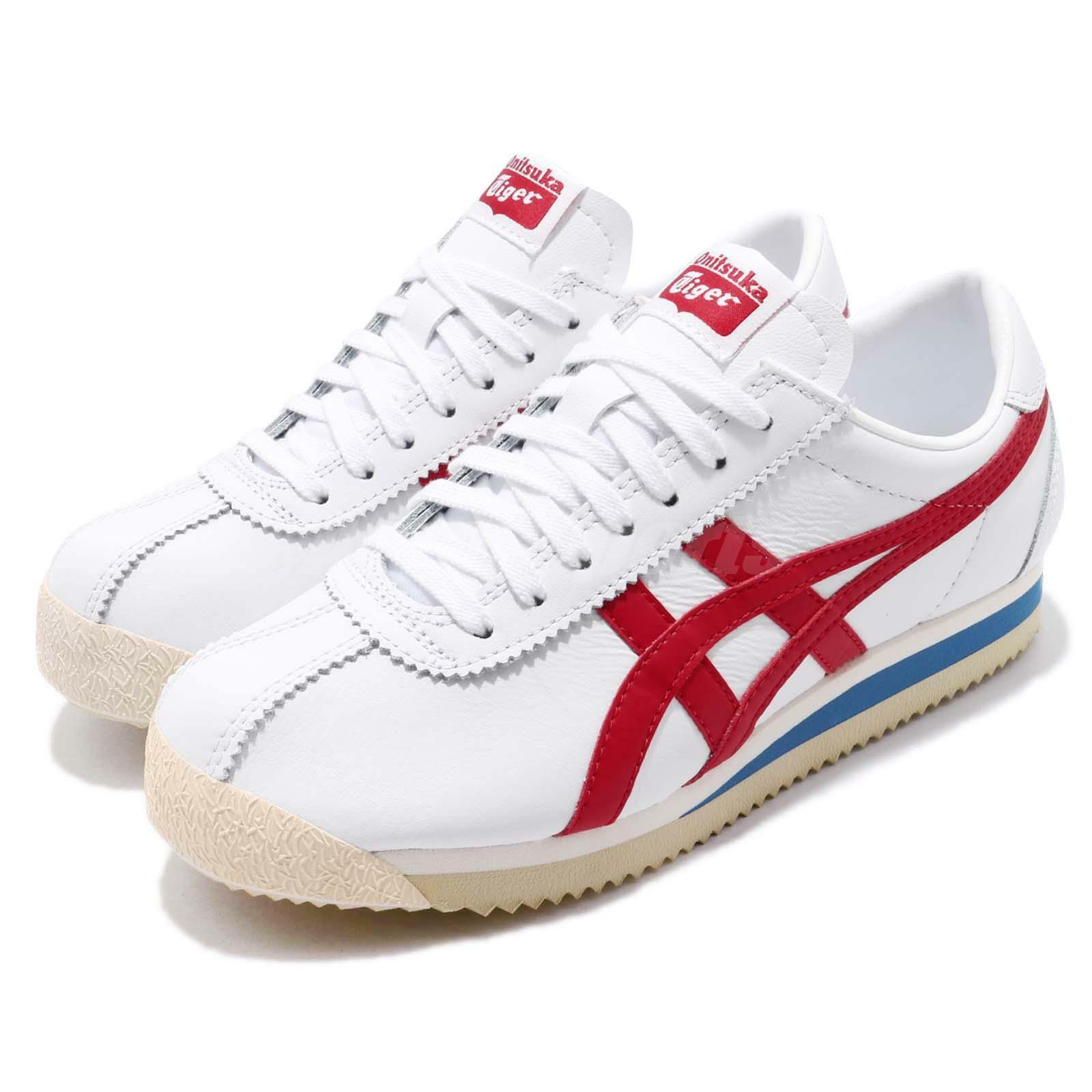 Asics Onitsuka Tiger Corsair White  Red bluee Mens Retro Running shoes D713L-0123  new products novelty items