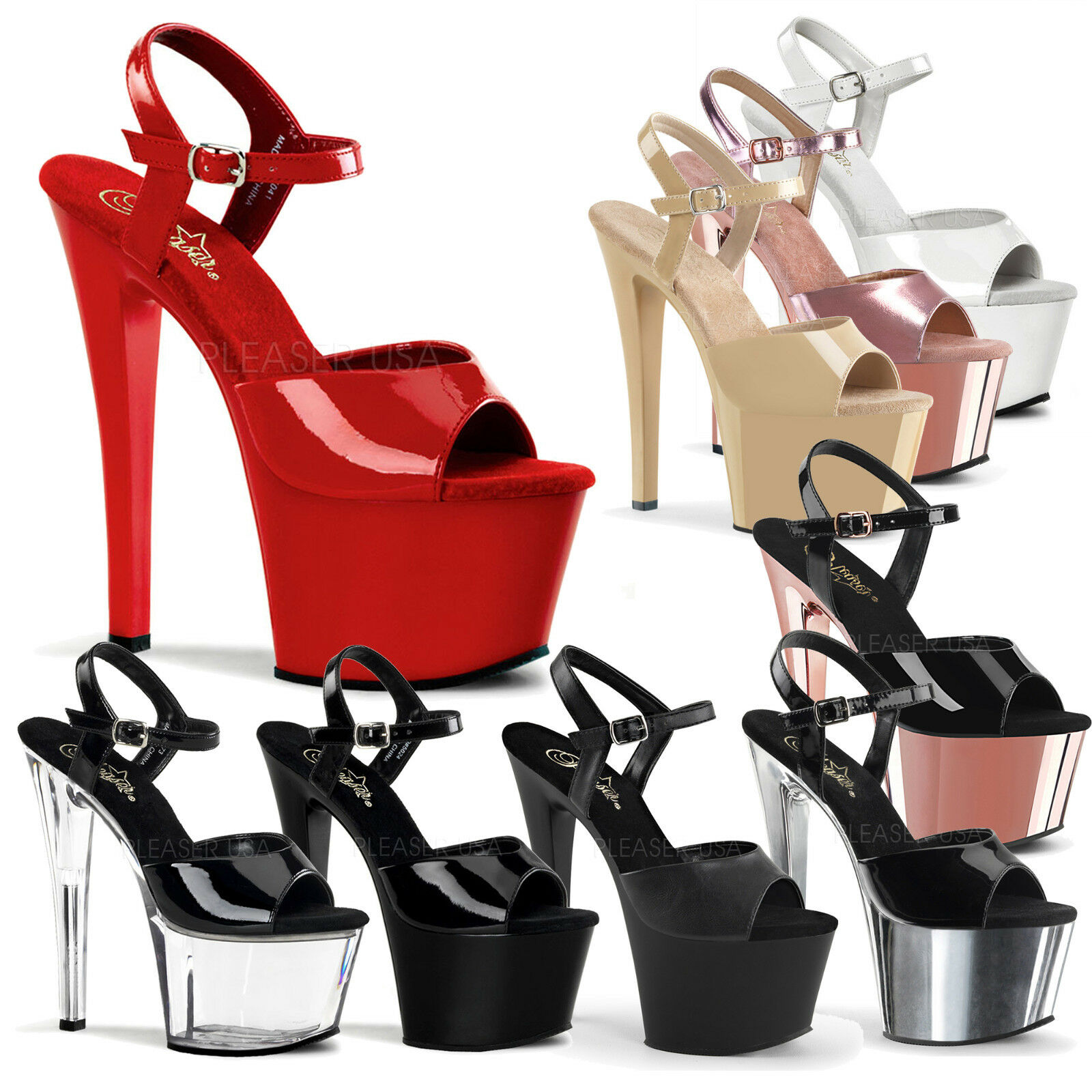 PLEASER - Sky-309 Sexy Sexy Sexy Platform Ankle Strap Sandal schuhe 963872