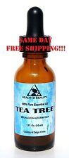 TEA TREE ESSENTIAL OIL by H&B Oils Center AROMATHERAPY GLASS DROPPER 1 OZ, 30 ml