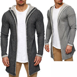 sublevel herren cardigan oversize jacke kapuze strickjacke pullover hoodie sweat ebay. Black Bedroom Furniture Sets. Home Design Ideas