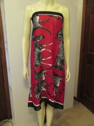 Red and Black Safari Zebra Scarf by Mud Pie Extra Large NWT