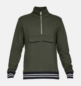 Under Armour 1//4 Zip Top Jumper Green For Men/'s Size XL