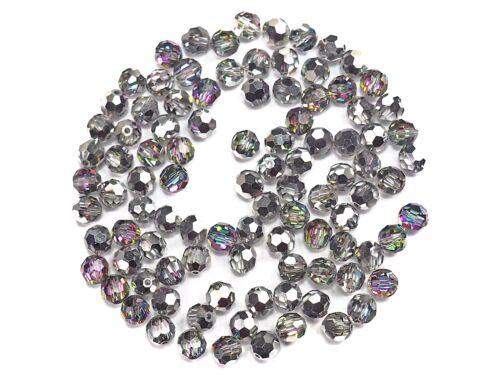 Inside Vitrail Green Beads Preciosa Genuine Czech Round MC Faceted Crystals