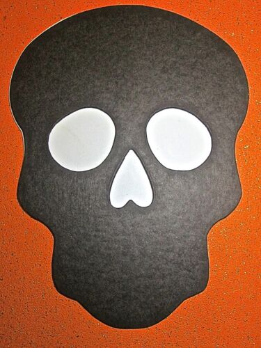 12or24 BLACK//WHITE Sugar Skull die cut shapes 2 sizes Day of the Dead Halloween