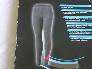 ae1c32d5e1e75 Image is loading WOMENS-100-merino-wool-thermal-long-johns-leggings-
