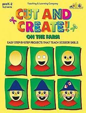 Cut and Create! On the Farm (Reproducible Book)