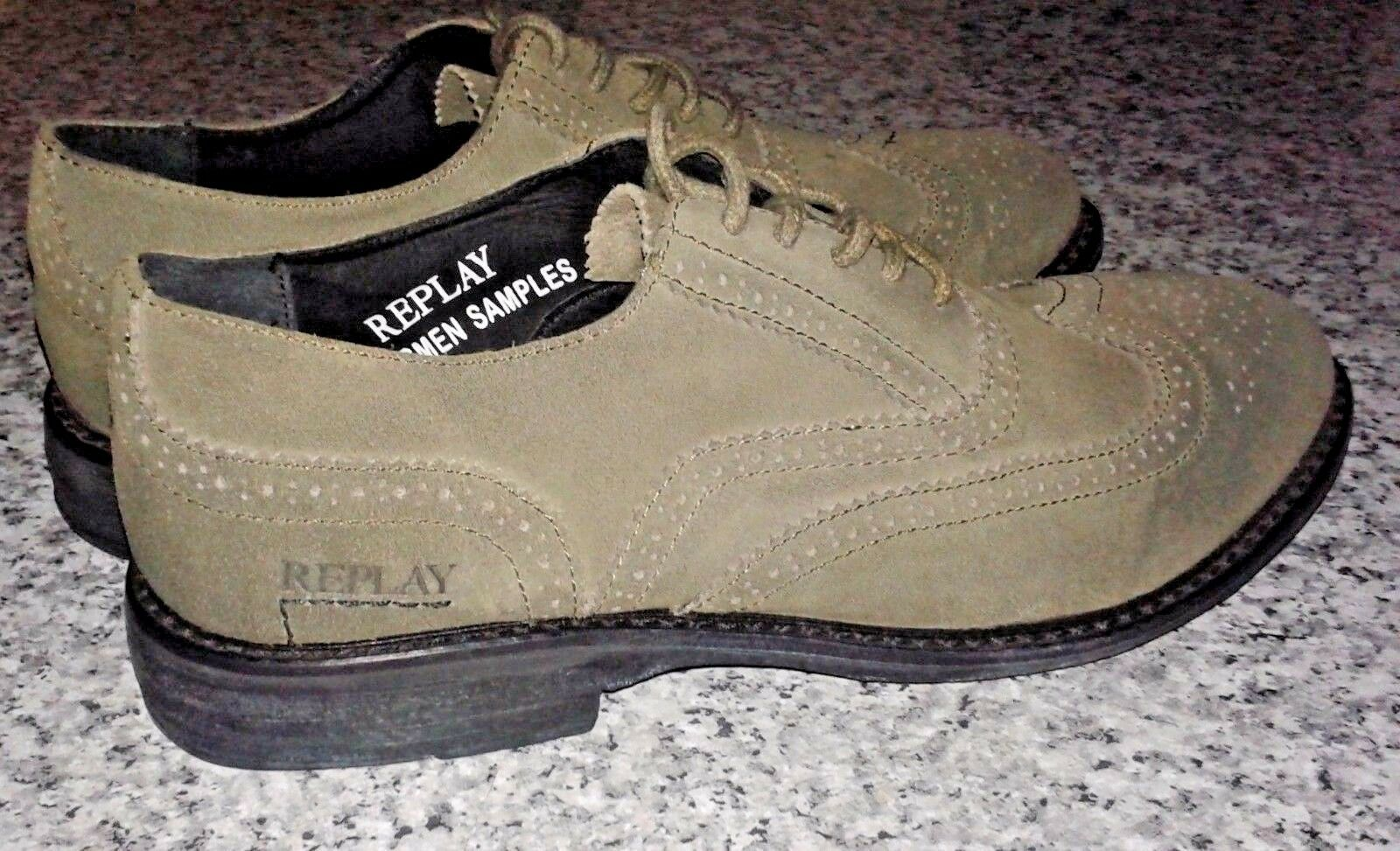 REPLAY Salesmen Samples Smart Leather Casual Work Fashion Brogue schuhe - UK 8