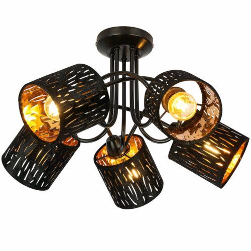 Decken Strahler Lampe schwarz gold Wohn Zimmer Dekor Stanzungen Samt Leuchte