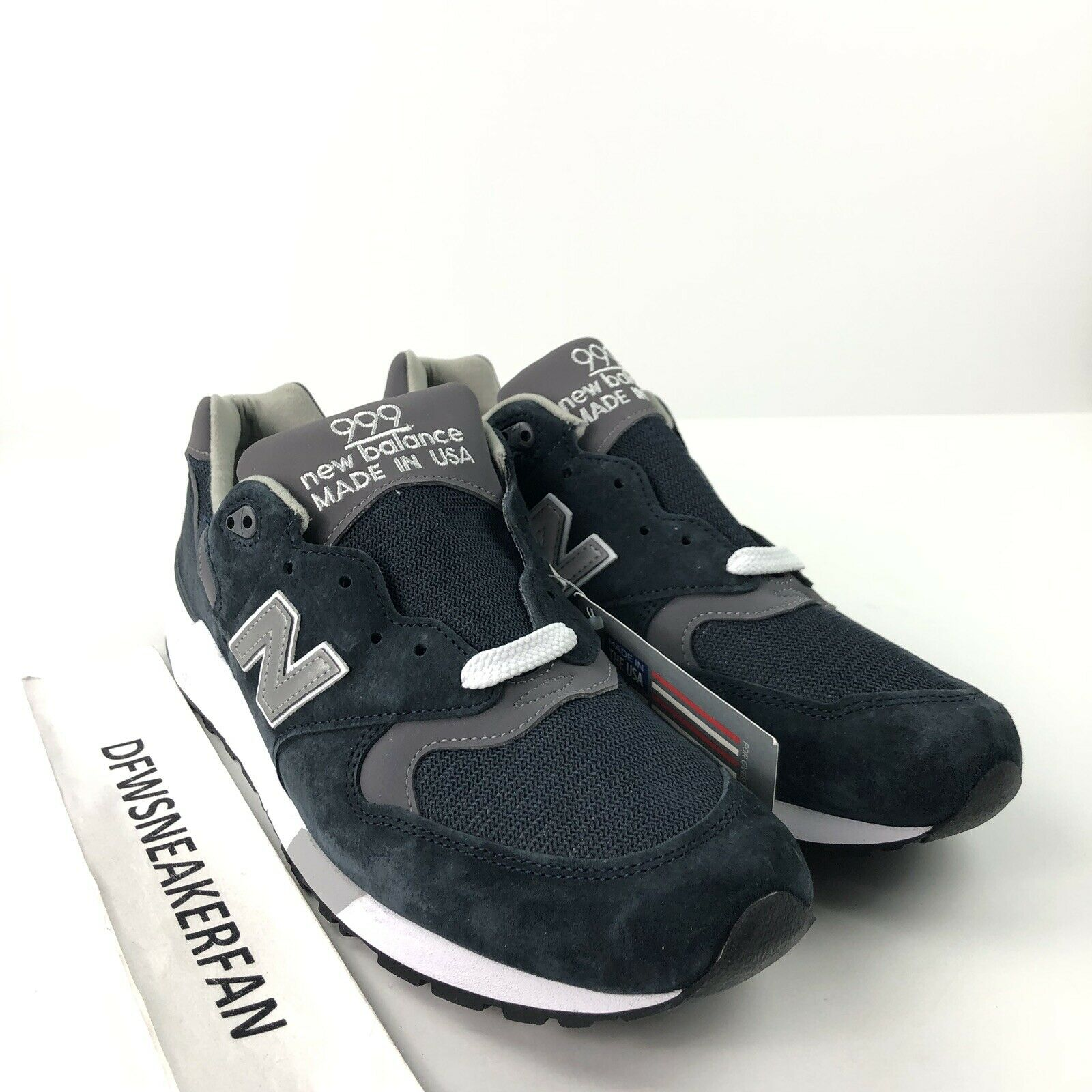 New Balance 999 M999CBL Men's 5.5 Made In USA Navy Grey Pewter Running shoes New