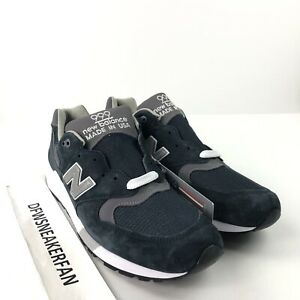 best service 80557 b76f4 Details about New Balance 999 M999CBL Men's 5.5 Made In USA Navy Grey  Pewter Running Shoes New